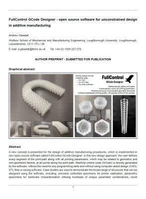 FullControl GCODE Designer Journal Article Front Page v02